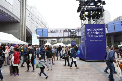 European elections 2019 - General atmosphere outside the European Parliament in Brussels - EP-089376E Alexis HAULOT Copyright© European Union 2019 - Source : EP