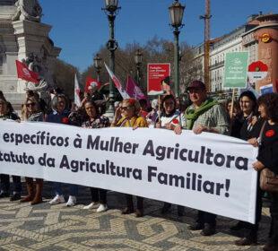 Manifestación por la agricultura familiar el pasado mes de marzo. Foto: CNA.