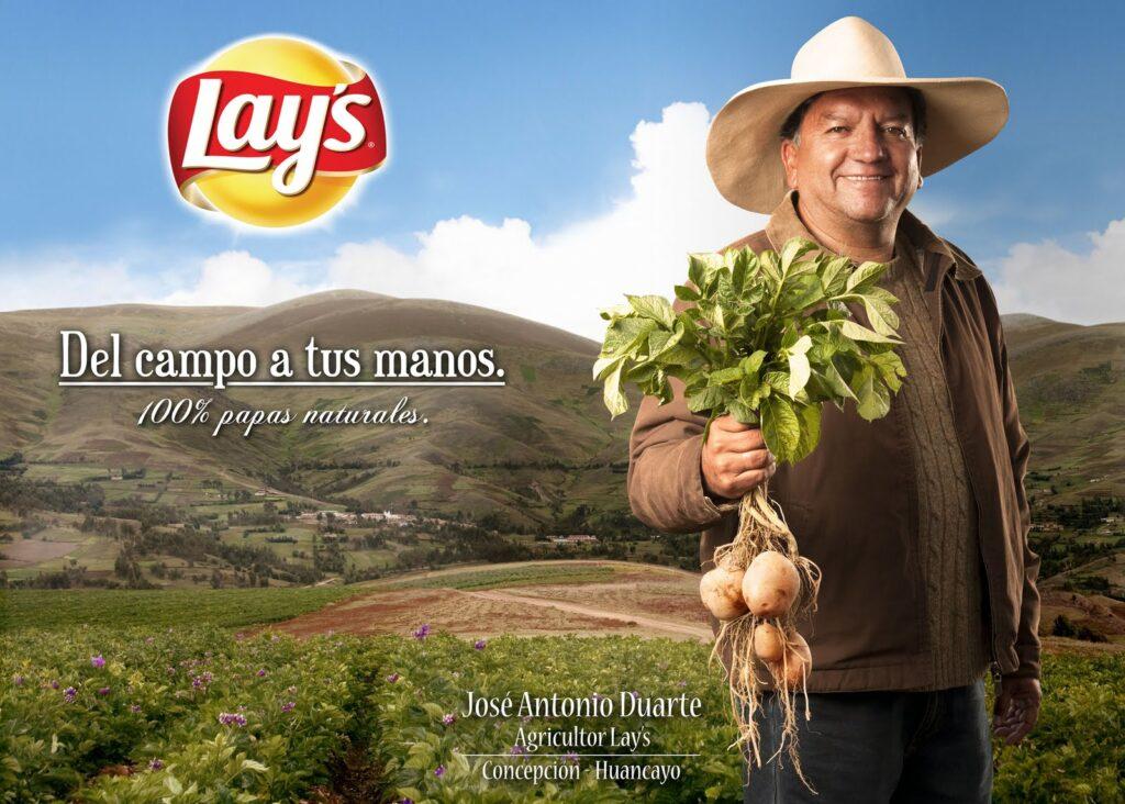 Campaña de patatas Lays en Perú.