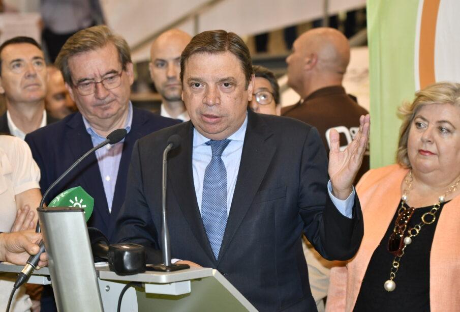 Luis Planas, en la inauguración de Infoagro.