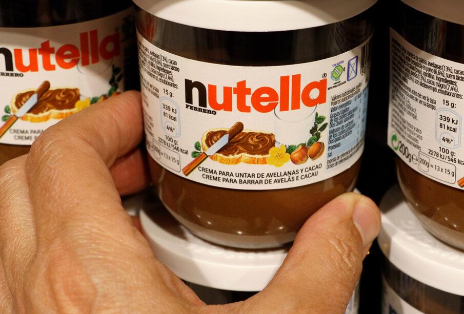 Envases de Nutella en un supermercado