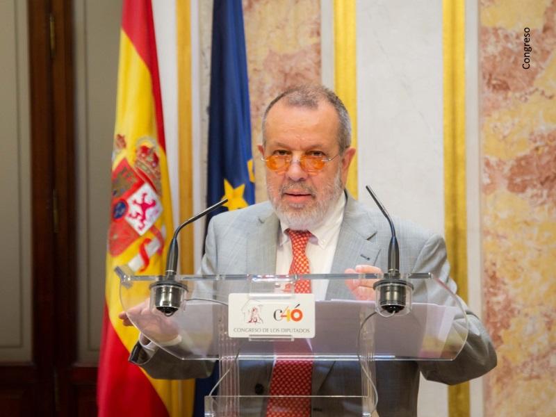 El Defensor del Pueblo, Fernández Marugán, en el Congreso de los Diputados
