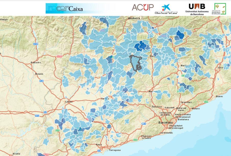 Sistema GISASH de información de los micropueblos de Cataluña.