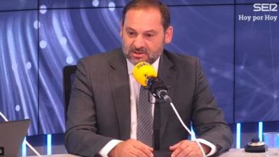 El ministro de Fomento, José Luis Ábalos, en Hoy por Hoy.