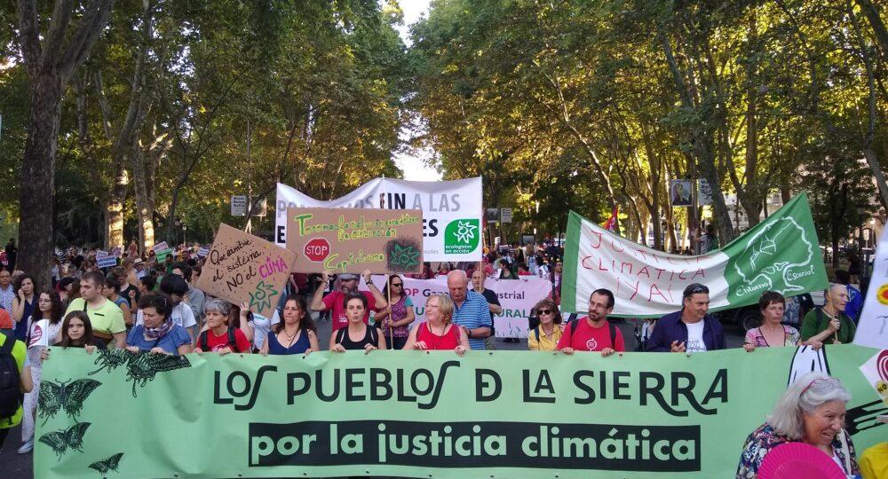 Manifestación en Madrid por la Huelga Mundial por el Clima. Foto: Twitter Ecologistas en Acción.