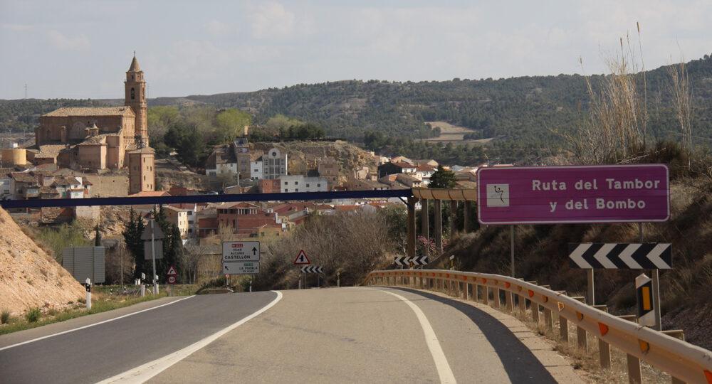 Una carretera en la provincia de Teruel