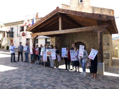 Protesta en Villar del Río (Soria) durante el paro de la España vaciada del pasado 4 de octubre. Foto: UPA
