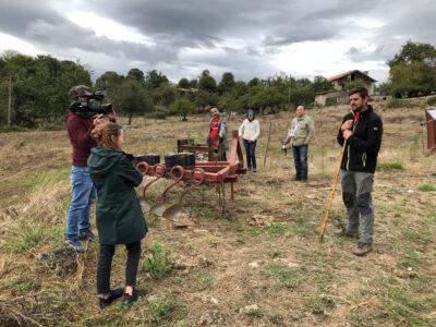Un momento del rodaje del documental, en una explotación ganadera en Viana do Bolo (Ourense). Foto: UPA