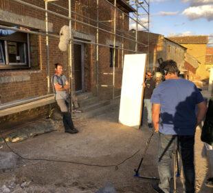 Un momento del rodaje de Barbecho, en Ledigos (Palencia)