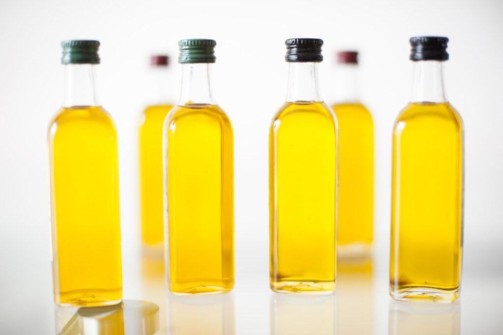 Botellitas de aceite de oliva virgen extra