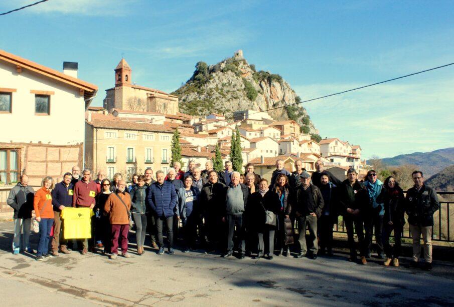 Miembros de la Coordinadora de la España Vaciada, este fin de semana, en Nieva de Cameros (La Rioja).