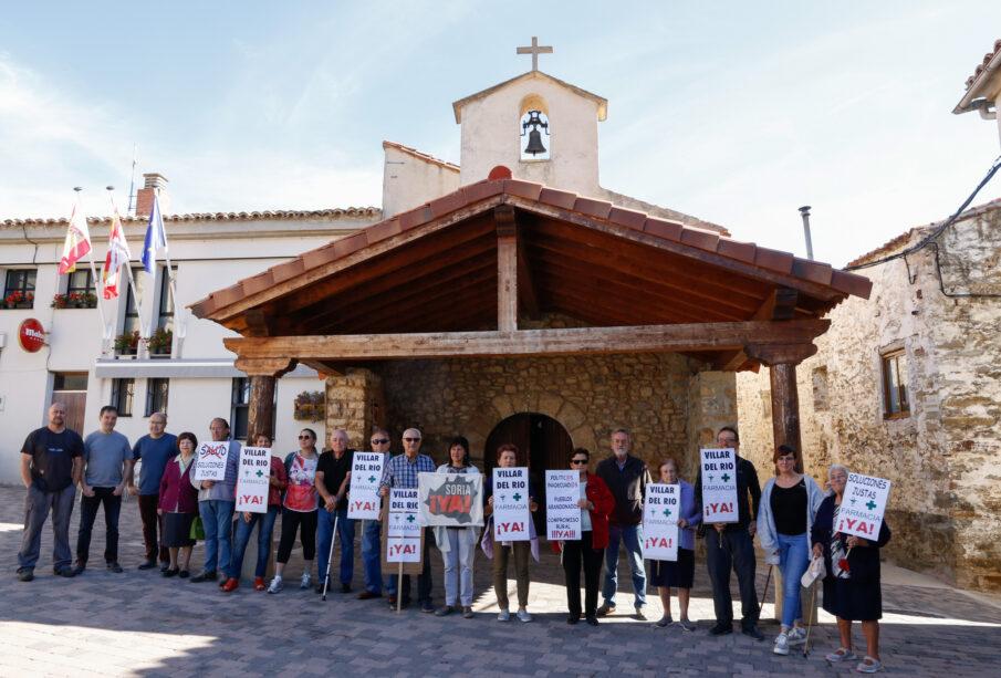 Paro de cinco minutos el pasado 4 de octubre en Villar del Río (Soria)