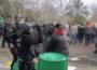 Cargas policiales contra los agricultores, hoy en Don Benito. Foto: Twitter. Miguel Ángel Díaz.