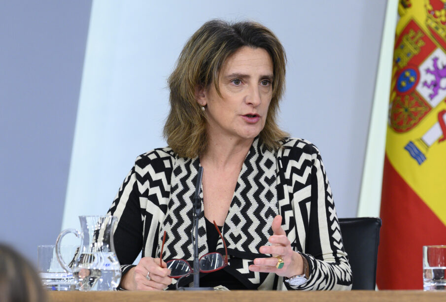 Teresa Ribera, hoy, en la rueda de prensa posterior al Consejo de Ministros. Autor: Pool Moncloa/Borja Puig de la Bellacasa