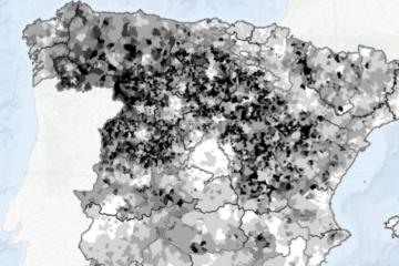Envejecimiento de los municipios en España.