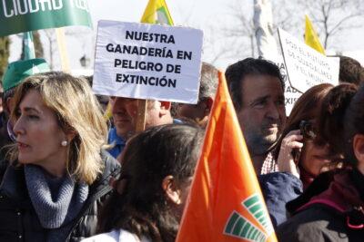 Protesta de los agricultores al límite, en Toledo. Autor: Joaquín Terán.