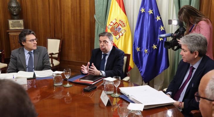 Luis Planas, en una reunión en el Ministerio de Agricultura, el pasado mes de enero. Autor: Joaquín Terán.