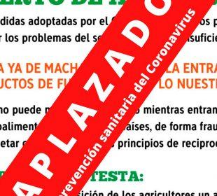 ASAJA, UPA y COAG posponen sine die las últimas protestas previstas para las próximas semanas en Andalucía a causa del coronavirus. Albacete, el jueves, será la última tractorada de los agricultores al límite.
