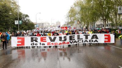 Revuelta de la España vaciada, el 31 de marzo de 2019. Autor: Joaquín Terán.