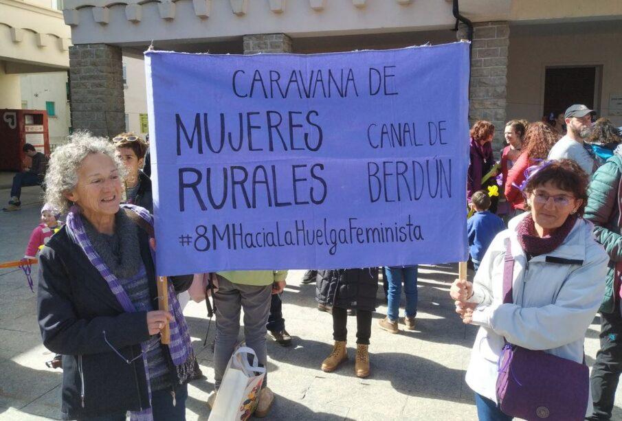 Mujeres rurales en Sabiñánigo (Huesca), el 8 de marzo de 2019. Foto: FADEMUR