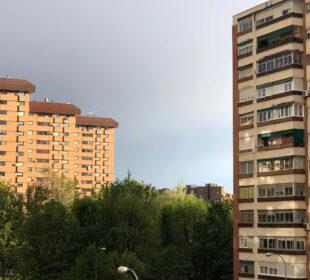 El cielo de Madrid, tras descargar una tormenta, la semana pasada.