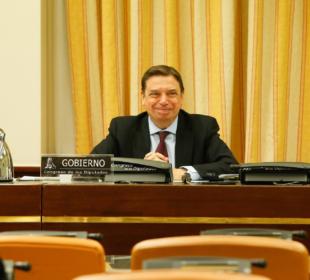 Luis Planas, hoy, en el Congreso de los Diputados. Foto: Congreso