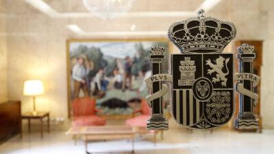 Un escudo de España, en una institución oficial. Autor: Joaquín Terán.