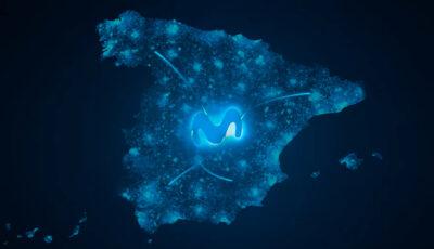"""Fotograma del último spot de Movistar en el que """"vende"""" su gran cobertura en toda España."""