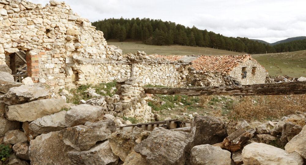 Pueblo abandonado, en la provincia de Guadalajara.