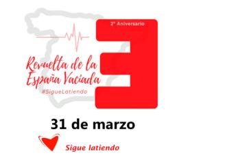 Cartel del 2º aniversario de la Revuelta de la España Vaciada