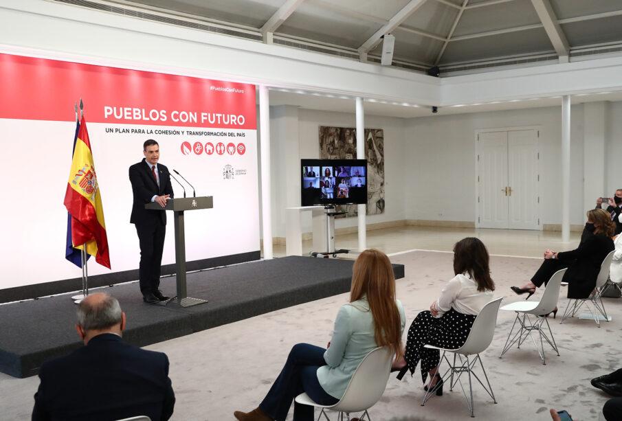 Pedro Sánchez, en la presentación el sábado del plan de medidas frente al reto demográfico.