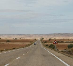 Una carretera en la provincia de Teruel. Foto: EDR.