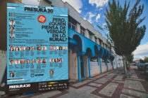 El cartel de la feria Presura, organizada por el coworking El Hueco, en Soria, impacta.