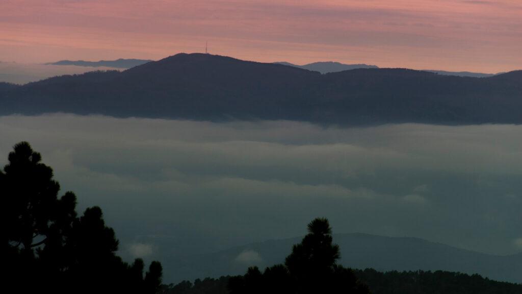 Mar de nubes en la sierra de Gredos. Foto: EDR.