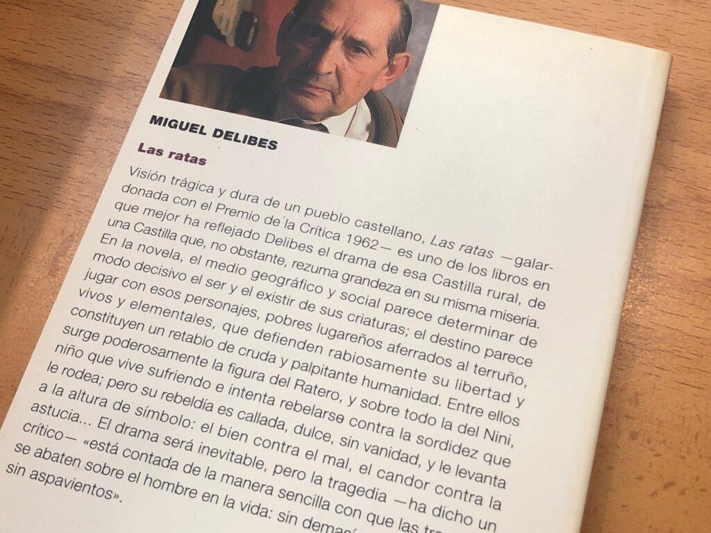 Contraportada de Las Ratas, de Miguel Delibes