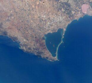 El Mar Menor, visto desde el aire. Foto: Miteco.